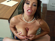 Francesca Le sucks and tit fucks his boner