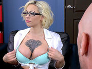 Hot blonde schoolgirl Harlow Harrison masturbates for her dean