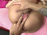 Christy Mack gets her pussy and asshole licked, fingered and dildoed