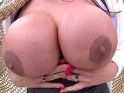 Sexy MILF Ariella Ferrera shows off her big boobs