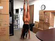Fitness chick Kelsi Monroe demonstrates her sport skills