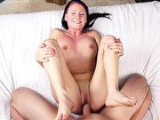 Busty brunette slut Stella Stone split apart by Jmac