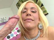 Mariah Madysinn loves sucking and gagging on a massive cock