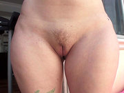 Ryon Cherry showing her trimmed cunt