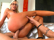 Sexy mom Puma Swede jumps on his hard dick