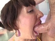 Veiny big boner rams Dollie Darko's beautiful face