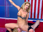 Blonde MILF Cherie DeVille is ready for some freaky muffdiving fun