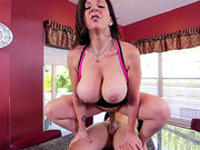 Voluptuous MILF Sara Jay gets pounded on her kitchen counter