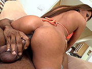 Alison Star barely fits that enormous black snake inside of her pussy