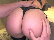 Tiny big ass babe Remy LaCroix gets her shaved pussy fingered