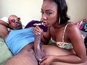 Chanell Heart giving Sean a nice blowjob