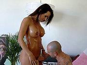 Big tits pornstar Franceska Jaimes getting her nipples sucked on