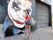 Hot ass babe Gianna Nicole posing outdoor