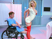 Blonde nurse Kagney Linn Karter will make Danny D walk again