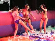 Anissa Kate and Franceska Jaimes having fun with two busty babes