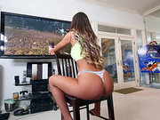 August Ames teasing while playing a video game
