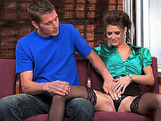 Jenni Lee sticks his hand in her panties and lets him play with her twat