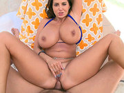 Gorgeous mom Ava Addams seduces young guy for anal fucking