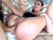 Bodacious brunette Brittany Shae gets her ass torn apart