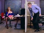 Redhead babe Lauren Phillips caught by Danny D masturbating
