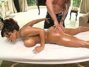 Lisa Ann gets her big ass oiled, massaged and fingered