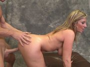 Cock hungry MILF Sara Jay gets her pussy slammed