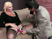 Rhylee Richards lets him fuck her pussy with toys