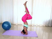 Sofia Rivera showing off her flexibility as she doing yoga