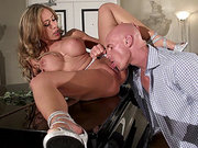Capri Cavanni gets her pussy tongued on a piano
