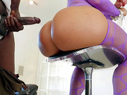 Curvy blonde babe Ryan Conner getting pounded by a black brotha