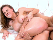 Chanel Preston gets her tight oiled butt stuffed