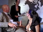 Peta Jensen sucks her boss dick at the conference