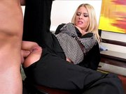 Riley Evans gets her gorgeous ass drilled at work