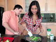 Jade Jantzen prepares a lunch for her boyfriend