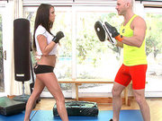 Busty Peta Jensen fulfills punches with Johnny Sins