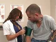 Sexy dr. Jenna Presley measures Scott s pressure in the hospital