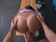 Gorgeous Lezley Zen getting nailed doggy style
