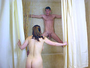 Busty wife Lucia Love makes her old husband a cuckold