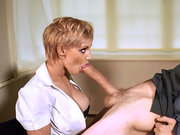 LouLou shoves his knob into her mouth