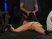 Asa Akira sucking cock and getting fucked in a threesome